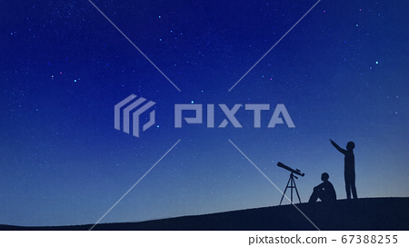 밤하늘의 천체 관측 67388255