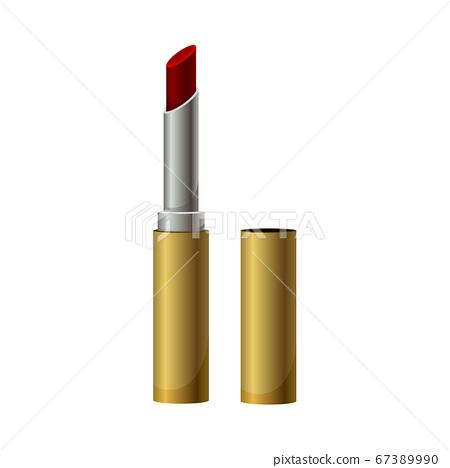 Decorative Cosmetics or Color Cosmetics with Lipstick Vector Illustration 67389990