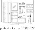 Sketch interior. Hallway furniture 67390677