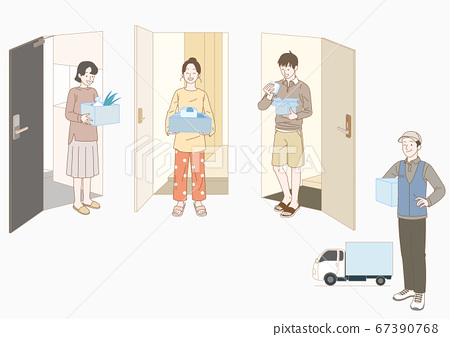 Stay home concept with flat design illustration 011 67390768