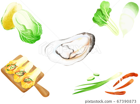 Ingredients to make Korean food illustration 013 67390873