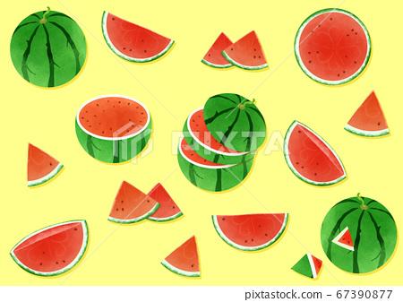 Fresh fruits background illustration 003 67390877