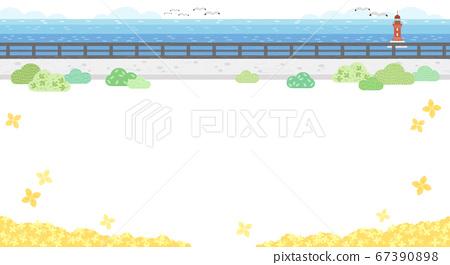 Beautiful spring landscape background illustration 003 67390898