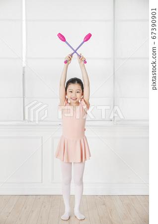 Happy children concept, a portrait of asian children smiling 410 67390901
