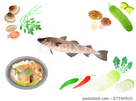 Ingredients to make Korean food illustration 016 67390920