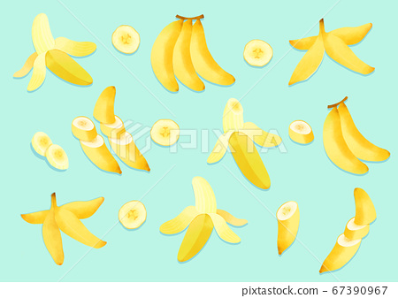 Fresh fruits background illustration 001 67390967