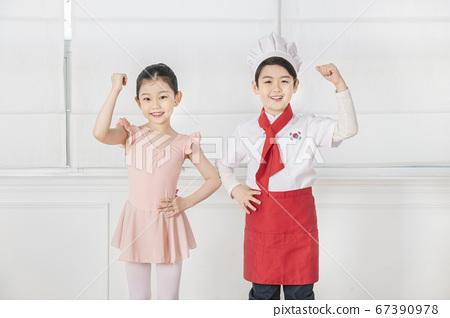 Happy children concept, a portrait of asian children smiling 380 67390978