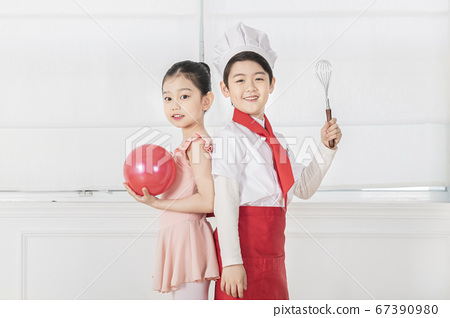 Happy children concept, a portrait of asian children smiling 392 67390980