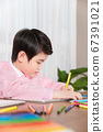 Happy children concept, a portrait of asian children smiling 288 67391021