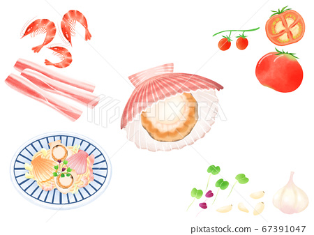 Ingredients to make Korean food illustration 017 67391047