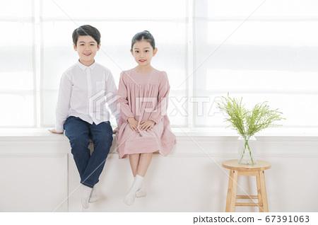 Happy children concept, a portrait of asian children smiling 239 67391063