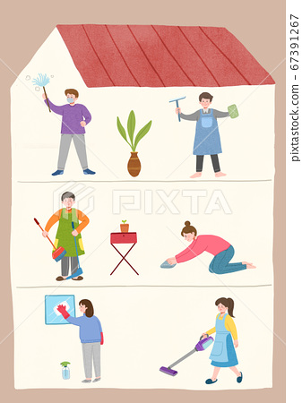 Stay home stay safe concept with flat design illustration008 67391267