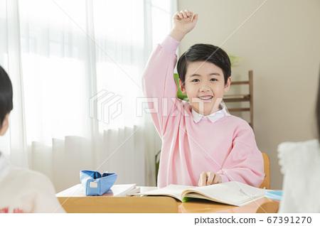Happy children concept, a portrait of asian children smiling 089 67391270