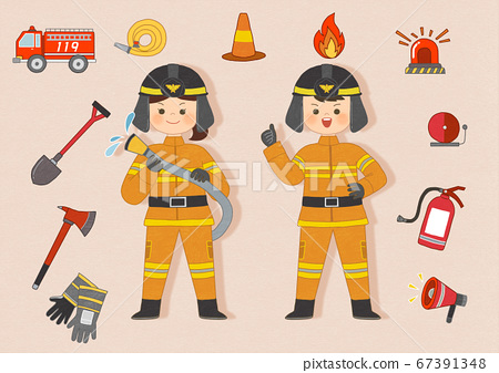 Different occupation character illustrations 002 67391348