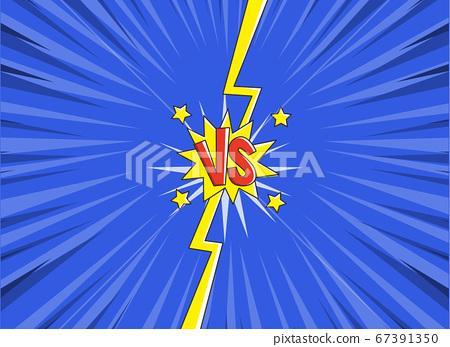 VS versus symbol for confrontation or opposition design concept illustration 023 67391350