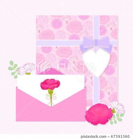 Carnations flower background. Flowers composition illustration009 67391360