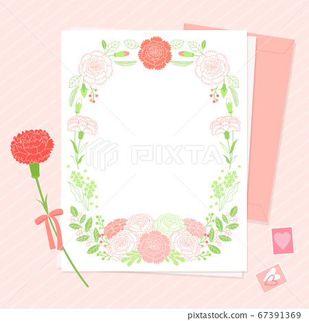Carnations flower background. Flowers composition illustration006 67391369