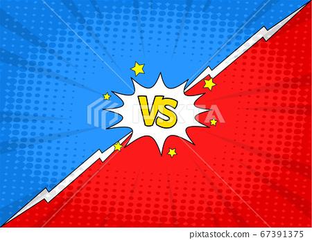 VS versus symbol for confrontation or opposition design concept illustration 019 67391375