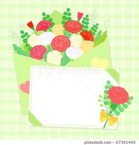 Carnations flower background. Flowers composition illustration003 67391400
