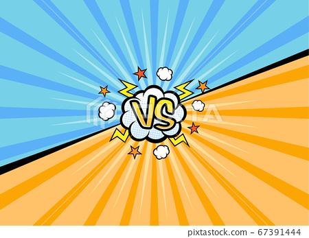 VS versus symbol for confrontation or opposition design concept illustration 011 67391444