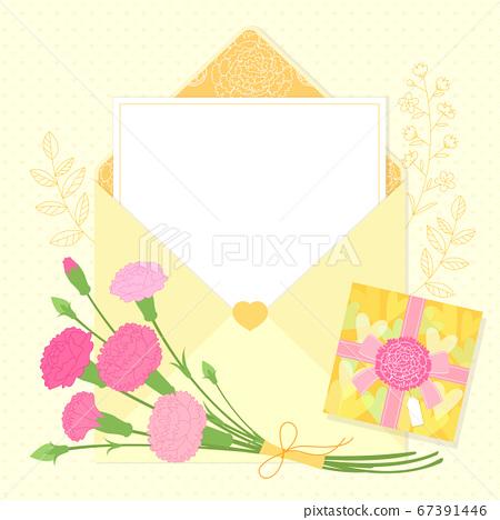Carnations flower background. Flowers composition illustration002 67391446