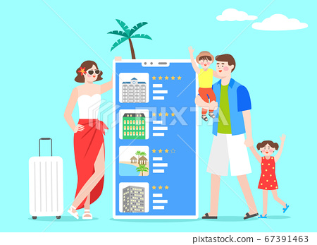 Happy and cheerful travelers concept illustration 009 67391463