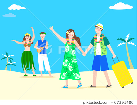 Happy and cheerful travelers concept illustration 002 67391480