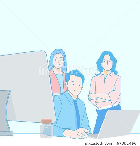 Teamwork and success concept illustration 007 67391496