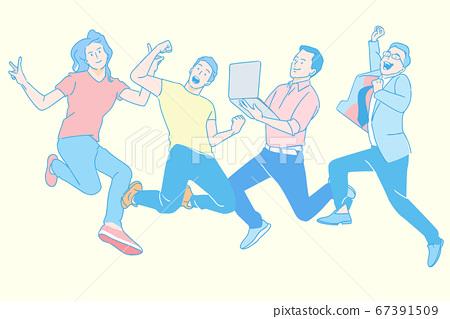 Teamwork and success concept illustration 003 67391509