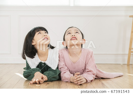 Happy children concept, a portrait of asian children smiling 143 67391543