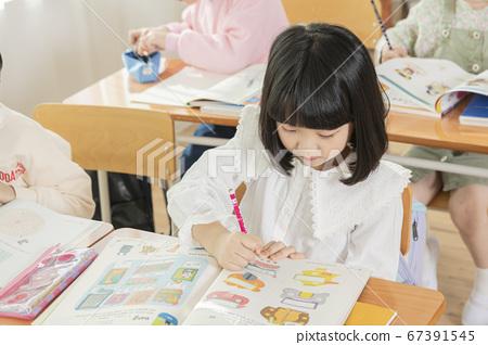Happy children concept, a portrait of asian children smiling 058 67391545