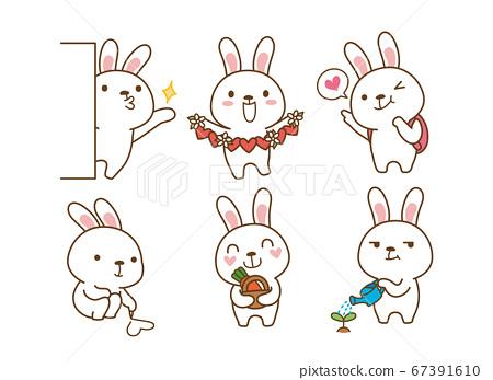 Set of Emoticons. Emoji character cartoon animals illustration 012 67391610