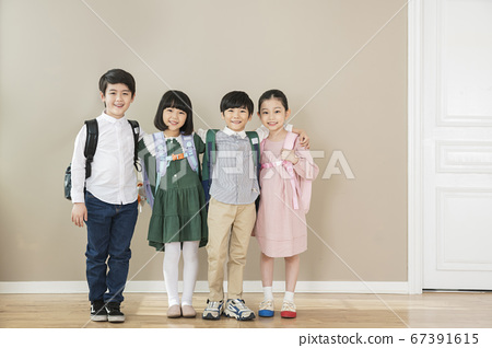 Happy children concept, a portrait of asian children smiling 035 67391615