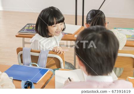 Happy children concept, a portrait of asian children smiling 072 67391619