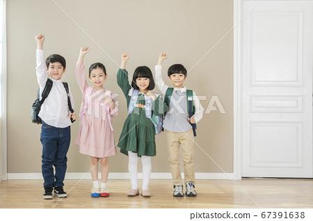 Happy children concept, a portrait of asian children smiling 042 67391638