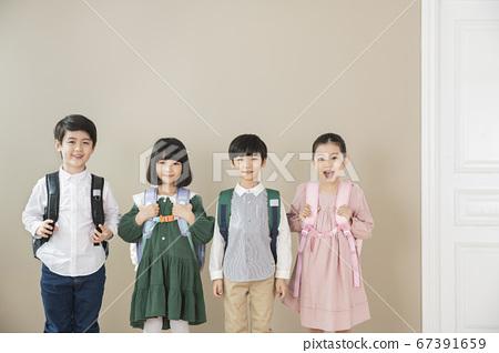 Happy children concept, a portrait of asian children smiling 008 67391659