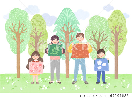 Ecology design concept. tree planting, recycling illustration 010 67391688