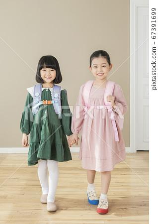 Happy children concept, a portrait of asian children smiling 011 67391699