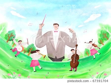 fairy tale story concept watercolor Illustration 005 67391704