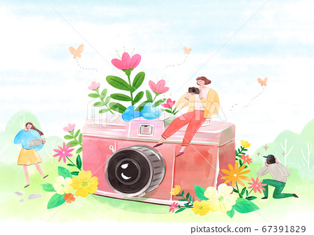 fairy tale story concept watercolor Illustration 019 67391829