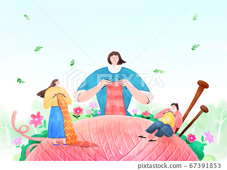 fairy tale story concept watercolor Illustration 020 67391853