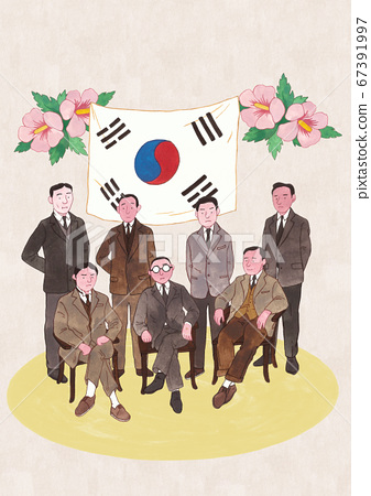 Hand drawn great people and historical events in Korea 002 67391997