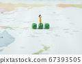 Miniature world concept- Miniature figurine of traveler, businessman, couple, family 090 67393505