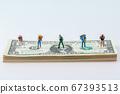 Miniature world concept- Miniature figurine of traveler, businessman, couple, family 063 67393513