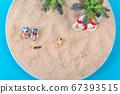 Miniature world concept- Miniature figurine of traveler, businessman, couple, family 050 67393515