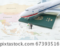Miniature world concept- Miniature figurine of traveler, businessman, couple, family 039 67393516