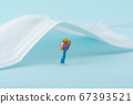 Miniature world concept- Miniature figurine of traveler, businessman, couple, family 012 67393521