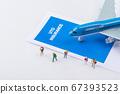Miniature world concept- Miniature figurine of traveler, businessman, couple, family 004 67393523