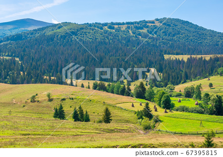 mountainous rural landscape. beautiful scenery 67395815