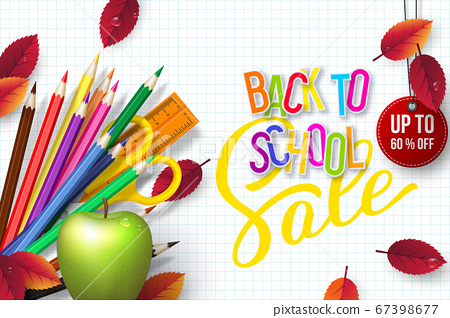 Back to school Sale banner. 67398677